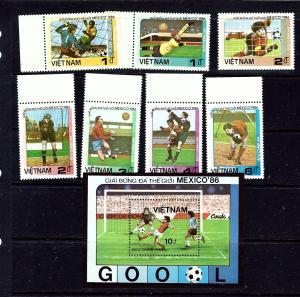 Vietnam 1576-83 MNH 1986 World Cup Soccer