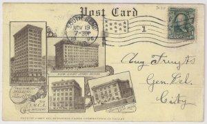 EXPOSITION ITEM: 1c #300 DALLAS STATE FAIR POST CARD 1906 JUDAICA very fine!