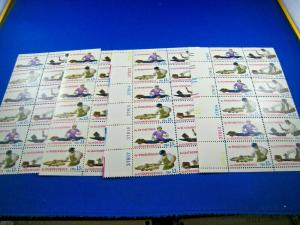 U.S. SCOTT # 1712-1720  -  PLATE BLOCKS of 12  - MATCHED SET OF 4