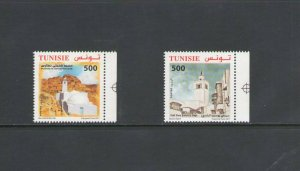 TUNISIA : Sc. 1637-38 / ** VARIOUS MOSQUES **/ SET   / MNH