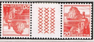 Switzerland Stamp tête-bêche gutter pair SELVAGE H/STAMPS MNH LOT #B-4