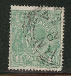 Australia Scott 25 used 1.5 p green KGV 1923 stamp