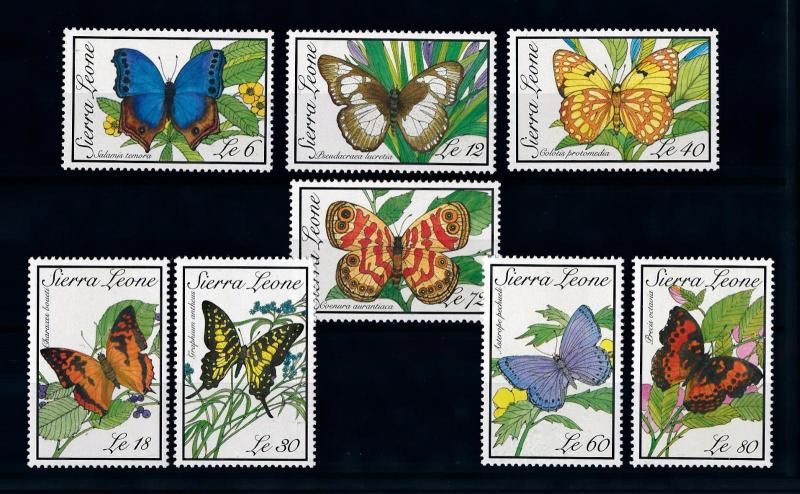 [70608] Sierra Leone 1989 Insects Butterflies  MNH