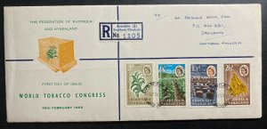 1963 Avondale Southern Rhodesia First Day Cover FDC World Tobacco Congress