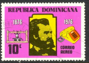 DOMINICAN REPUBLIC 1976 Alexander Graham Bell Airmail Issue Sc C242 VFU
