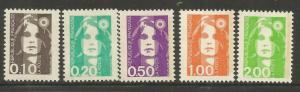 FRANCE  2179-2183  MNH,  MARIANNE