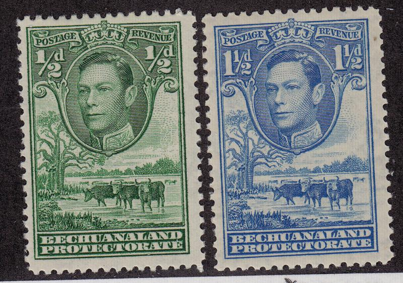 BECHUANALAND PROTECTORATE MNH Scott # 124, 126 King George VI (1 Stamp) -1
