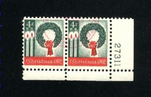 USA #1205  2  used 1962 PD .12