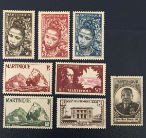 Martinique Stamps, 1945, Sc#217,135