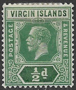 Virgin Island 47   1921   1/2 d  fine mint  - hinged