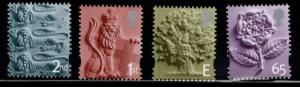 Great Britain England Regional Issue England Scott 1-4 MNH**