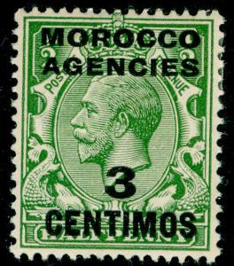 MOROCCO AGENCIES SG128, 3c on ½d green, M MINT.