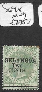 MALAYA SELANGOR (P0712B) QV 2C/24C    SG 48  MOG