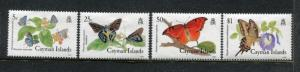 Cayman 590-593, MNH, Insects  Butterflies 1988. x25062