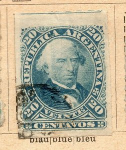 Argentina 1877-78 Early Issue Fine Used 20c. NW-11793