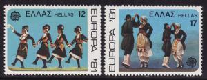Greece #1386-87 F-VF Mint NH ** Folk Dances