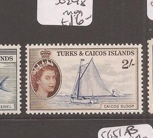 Turks & Caicos QE 2/- Ship SG 248 MOG (9dbm)