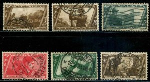 Italy SC# 290-5 Various Historical Scenes used scv $6.70