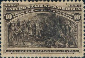 #237 1893 10 CENT COLUMBIAN ISSUE  USED-VF/XF