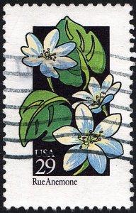 SC#2694 29¢ Wildflowers: Rue Anemone (1992) Used