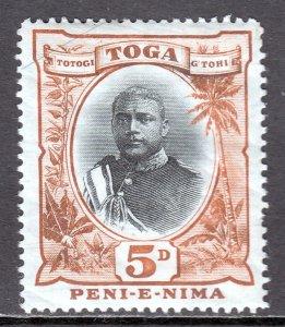 Tonga - Scott #45 - MH - Creasing/gum wrinkling, pencil/rev. - SCV $35.00