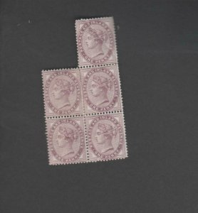 UK GB Queen Victoria One Penny Lilac Postage & Inland Revenue Stamps 1d Mint Blo