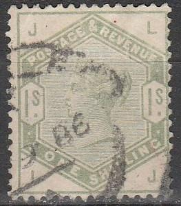 Great Britain #107 F-VF Used CV $250.00 (B1893)