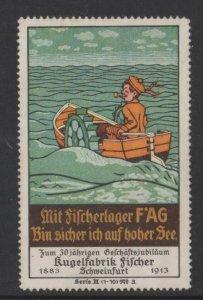Germany F*AG Brand Ball Bearings 1913 Fishing at Sea Series 3 No. 3