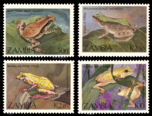 Zambia MNH 462-5 Frogs  & Toads