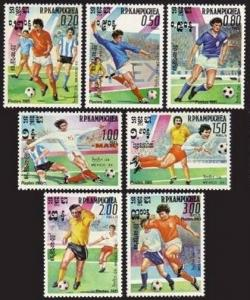 Cambodia 552-559,MNH.Michel 632-638,Bl.142. World Soccer Cup,Mexico-1986.