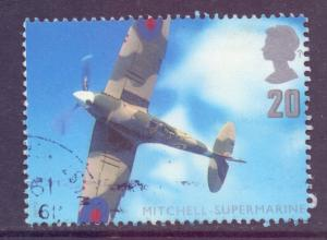 GB SG1984, 1997 Aircraft 20p Spitfire used
