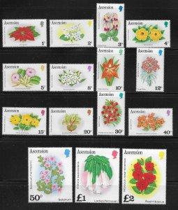 Ascension 274-288 Flowers set MNH c.v. $18.70