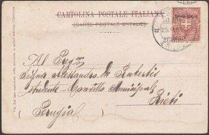 ITALY ERITREA 1902 postcard ex Asmara - 2c overprint........................B555