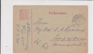 Austria 1917   Stamp Card ref R 19550