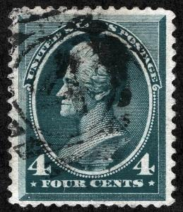 US Sc 211 Green 4¢ Black Duplex Cancel Well Centered *MP Lots