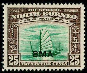 NORTH BORNEO SG330, 25c green & chocolate, NH MINT.