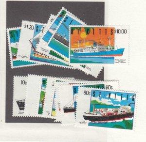 ST. KITTS (SP70) # 294-307 VF-MNH  VARc,$ 1994  SHIPS SET CAT VALUE $33