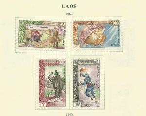 LAOS 1962 SCOTT 77-80 MH