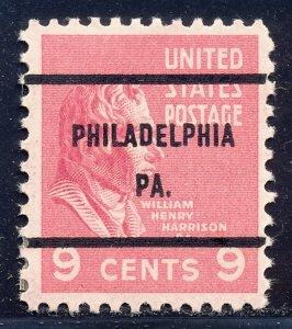 Philadelphia PA, 814-61 Bureau Precancel, 9¢ Harrison