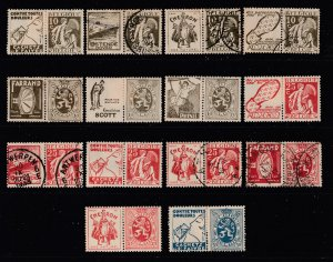 Belgium a small lot of M&U earlies with labels attached