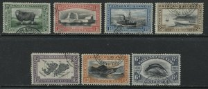 Falklands 1933 Centenary values CDS used to 6d