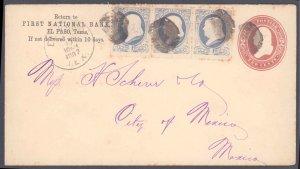 El Paso County El Paso to Mexico ( Postal History ), 1887