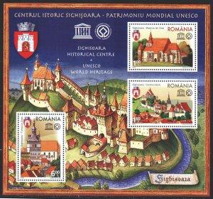 Romania. 2009. bl 448. Historic center of Sighisoara. MNH.