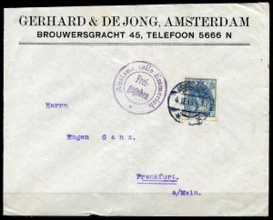 NETHERLANDS AMSTERDAM WORLD WAR I  4.II.15  COVER TO FRANKFURT GERMANY