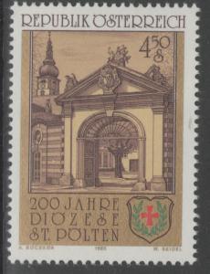 AUSTRIA SG2054 1985 ST.POLTEN DIOCESE MNH
