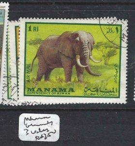 MANAMA   (P0807B)  ANIMALS    3    VALUES  VFU