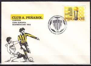 Uruguay, Scott cat. 1166. Soccer Club Penarol issue. First day cover. ^