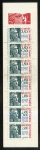 FRANCE 2467a MNH COMP BKLT SCV $16.00 BIN $9.00 STAMP DAY