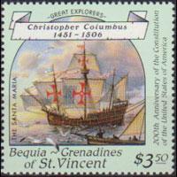 ST.VINCENT-BEQUIA 1988 - Scott# 257 Navigator $3.5 NH