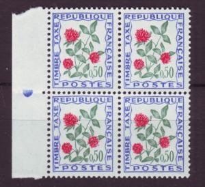 J18503 JLstamps 1964 france blk/4 mnh #j104 flowers